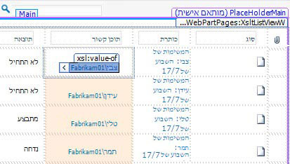 תצוגות רשימה של SharePoint Designer