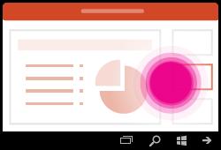 מחווה ב- PowerPoint עבור Windows Mobile שינוי שקופיות