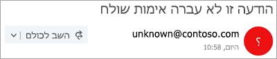 צילום מסך של סימן שאלה בתמונה השולח