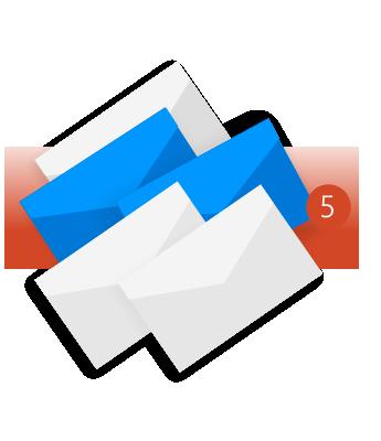 השתמש באפשרות 'נקה תיקיה' כדי להסיר הודעות מיותרות וחסרות תועלת.