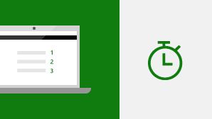 התחלה מהירה של Excel 2016