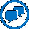 סמל של אנשים משוחחים בצ'אט