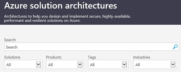 אתר פתרונות הארכיטקטורה של Azure