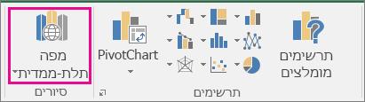 האפשרות 'מפה תלת-ממדית' ב- Excel
