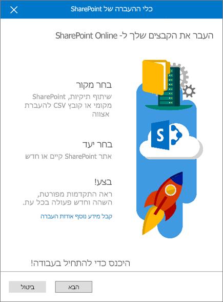 כלי העברה של SharePoint