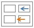 גלישה ומרווח בין תאים של תא בטבלה