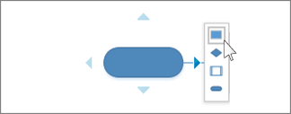 סרגל כלים מצומצם של 'חיבור אוטומטי' עם אפשרויות