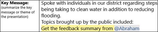 דוגמה של טקסט מסומן להמשך טיפול.