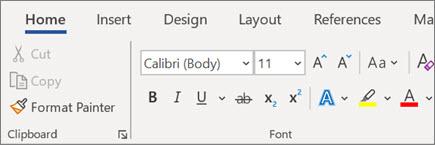 הוספה ועיצוב של טקסט ב- Word