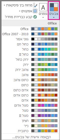 הגלריה של צבעי ערכת נושא