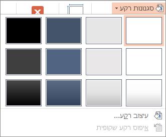 סגנונות רקע של PowerPoint
