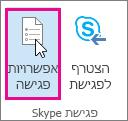Outlook, לחצן 'אפשרויות פגישה'