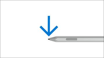 עצה להצבעה באמצעות עט Surface