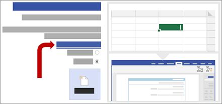 בחירת תבנית הנתונים של Excel