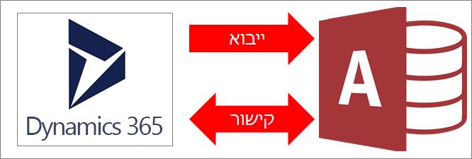 חיבור של Access ל- Dynamics 365
