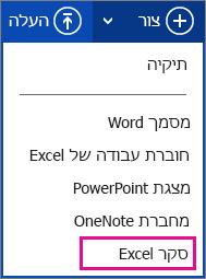 יצירת סקר של Excel