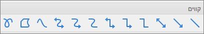 קווים של PPT for Mac