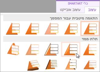 החלת סגנון SmartArt
