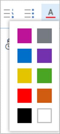 התאם את צבע הגופן ב- Outlook באינטרנט.