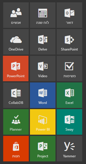 מפעיל היישומים מציג את PowerPoint במיקומו החדש