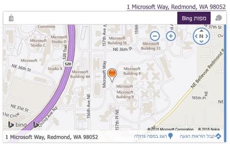 מפת Bing
