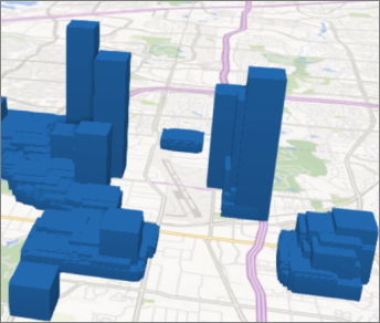 Power Map עם עמודות מרובעות