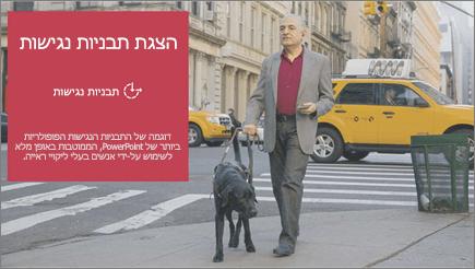 לקויי ראייה אדם מעבר וסיוע עם כלב seeing עין