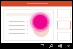 מחווה ב- PowerPoint עבור Windows Mobile בחירת טקסט רגיל