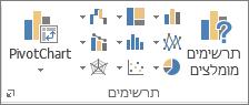 לחצני תרשימים של Excel