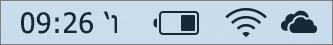 צלמית OneDrive במגש המערכת של Mac