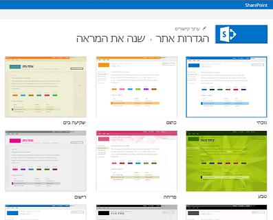 דוגמה של העיצובים הזמינים להתאמה אישית של אתר הקהילה שלך