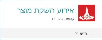 כותרת אתר צוות