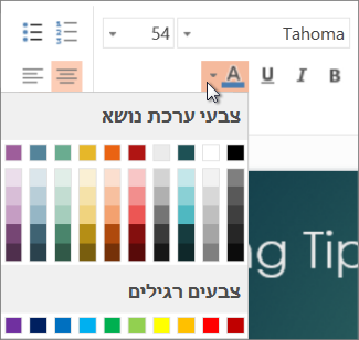בחירת צבע טקסט