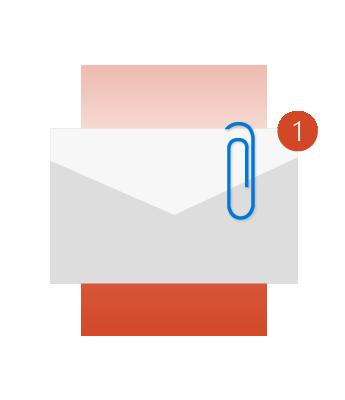 Outlook יכול להזכיר לך לצרף קובץ.