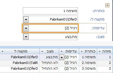 יצירת תצוגה באמצעות Microsoft Access