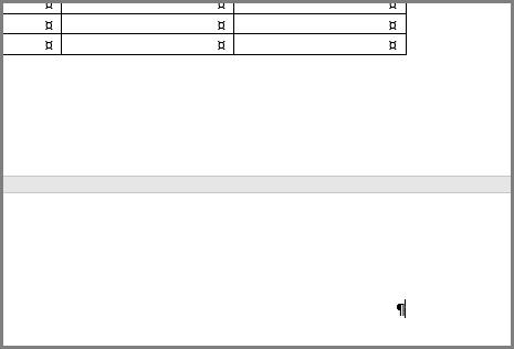 פריסות טבלה, שבהן נעשה שימוש רב בתבניות של קורות חיים, עשויות להעביר את פיסקת הסיום לעמוד ריק חדש.