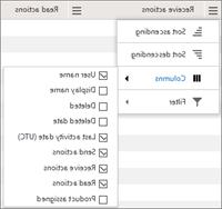 דוחות של Office 365 - ניהול העמודות שיופיעו בטבלת פרטי המשתמש