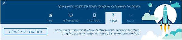 צילום מסך של הסיור OneDrive מונחית שמופיע בעת השימוש הראשון שלך ב- OneDrive for Business ב- Office 365