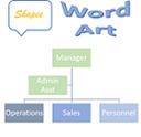 צורות, SmartArt ו- WordArt