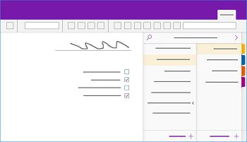 הצגת החלון 'OneNote עבור Windows '10