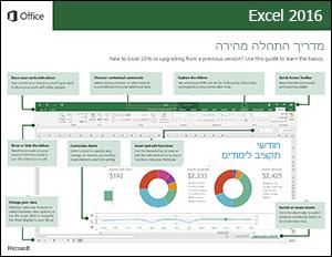 מדריך התחלה מהירה של Excel 2016 (Windows)