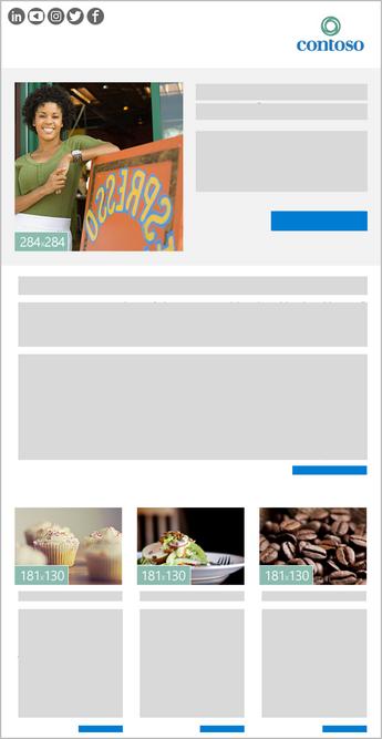 תבנית ידיעון Outlook תמונת-4