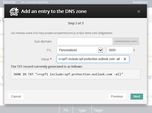 OVH הוספת רשומת TXT עבור SPF_C3_2017529102318