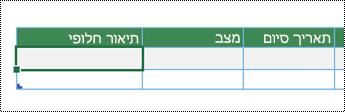 צילום מסך של יצירת דיאגרמה מסוג רכיב המחשה של נתונים ב- Excel