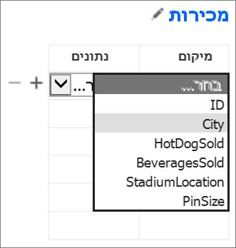 בחירת נתונים עבור היישום של Office להצגה ביישום Access