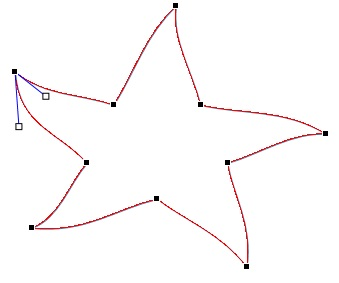 किसी आकृति पर बिंदुओं को संपादित करना
