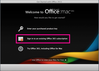 Office for Mac home installation page