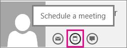 Outlook Web App में कोई मीटिंग शेड्यूल करें बटन