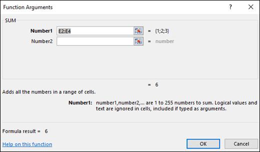 Excel फ़ंक् शन विज़ार्ड