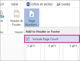 किसी दस्तावेज़ में पृष्ठ क्रमांक के साथ पृष्ठ संख्या को शामिल करने के लिए चयन करने हेतु चेक बॉक्स की छवि (Y का पृष्ठ X).